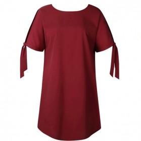 Mini haljina tunika s mašnom na rukavima