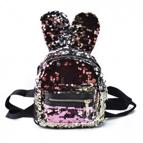 Mini ruksak s ušima na šljokice