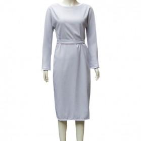 Poslovna haljina olovka kroja s dugmadi