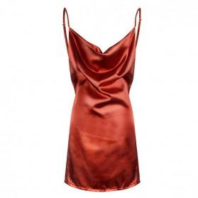 Mini satenasta haljina na bretele