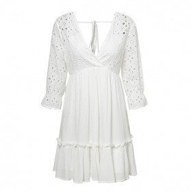 Mini pamučna kačkana haljina dugih rukava *limitirana kolekcija*