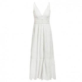 Vezena pamučna haljina otvorenih na volane *limitirana kolekcija*