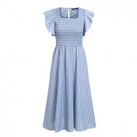 Pamučna midi prugasta haljina na volane *limitirana kolekcija*