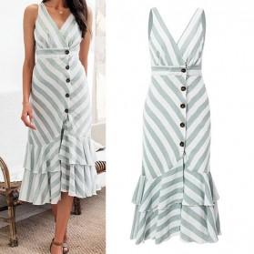 Pamučna asimetrična prugasta haljina na dugmad *limitirana kolekcija*