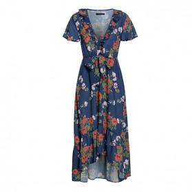 Asimetrična boho cvjetna haljina