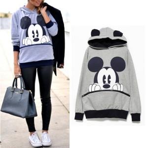 Majica s kapuljačom s printom Minnie i Mickeya