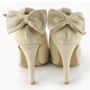 Cipele izgleda brušene kože s mašnom 5 boja