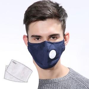 Maska za odrasle s 2 filtera razne boje
