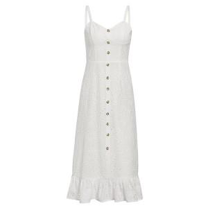 Midi vezena pamučna haljina na volane *limitirana kolekcija*