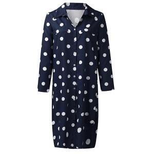 Košulja haljina srednje duljine na točkice