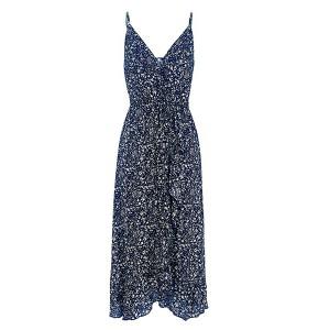 Asimetrična boho cvjetna haljina od viskoze
