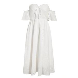 Midi pamučna haljina otvorenih ramena *Limitirana kolekcija*