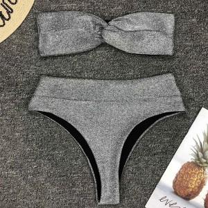 Glitter bandeau kupaći kostim