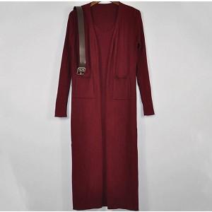 Pleteni komplet haljina s remenom + kardigan *Limitirana kolekcija*