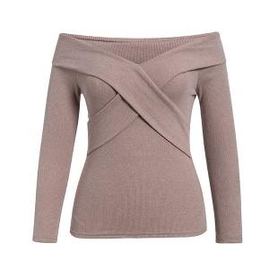 Rebrasta majica otvorenih ramena *Limitirana kolekcija* standardni S