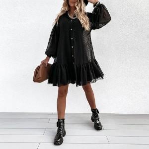 Mini košulja haljina na točkice