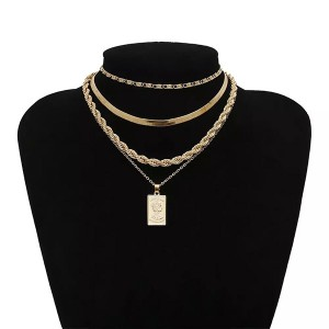 Višestruka masivna lanac ogrlica 3 modela