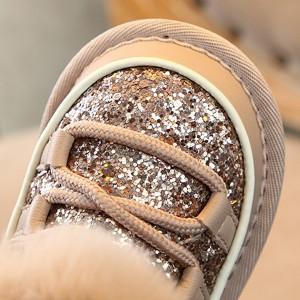 Luksuzne glitter snježne čizme od prave kože *Limitirana kolekcija*