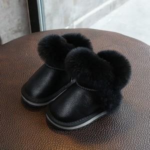 Snježne čizme od prave kože s krznom