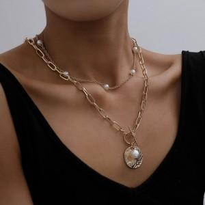 Dvostruka lančić ogrlica s biserom