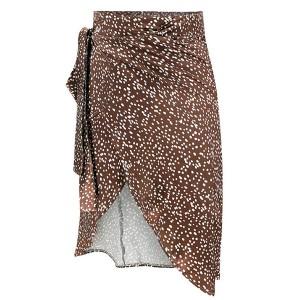 Mini preklopna točkasta suknja visokog struka