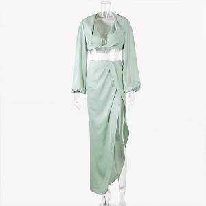 Satinirirani komplet kratko rezana košulja + suknja *Limitirana kolekcija*