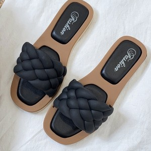 Niske sandale natikače s pletenicama 5 BOJA