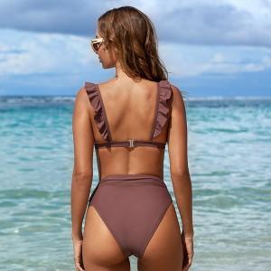 Push up kupaći kostim na volane s gaćicama za vizualno oblikovanje struka 2 BOJE *Limitirana kolekcija*