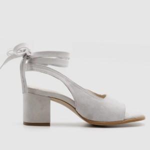 Sandale izgleda brušene kože na blok petu 3 BOJE standardni 37