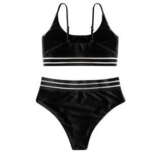 Push up kupaći kostim s topićem i gaćicama povišenog struka