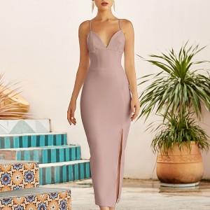 Luksuzna midi bandage haljina s prorezom 8 BOJA *Premium kvaliteta*