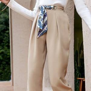 Poslovne hlače visokog struka s marama remenom