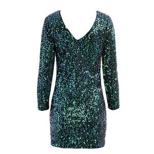 Mini zelena haljina sa šljokicama