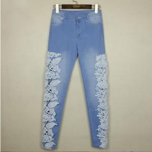 Mrkva traper hlače s čipkom veličina standardni S(36)