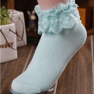 Čarape s čipkom do gležnja