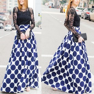 Maxi točkasta suknja