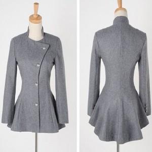 Iregularni sivi blazer kaput