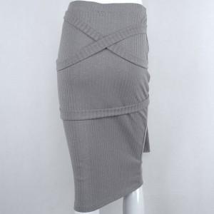 Midi uska suknja na vezanje