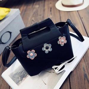 Midi kožna torbica s cvjetovima