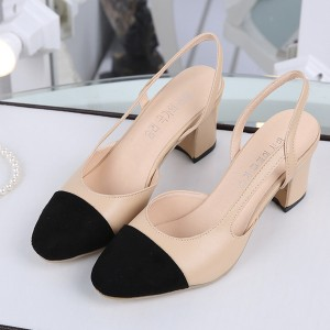Klasične dvobojne otvorene cipele blok peta standardni EU 39 crna boja