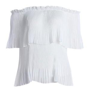 Romantična off shoulder ljetna bluza