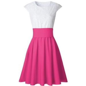 Mini čipkana haljina A kroja