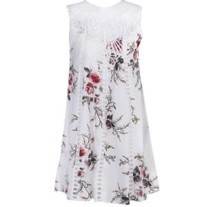 Mini cvjetna kačkana haljina