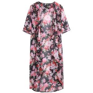 Dugi cvjetni ljetni kardigan kimono