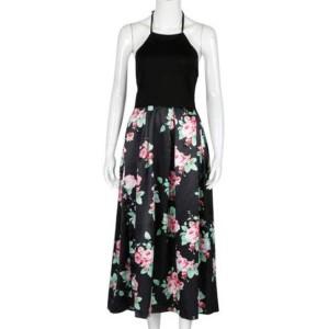 Midi cvjetna haljina otvorenih leđa
