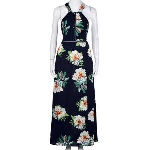 Maxi cvjetna haljina otvorenih leđa