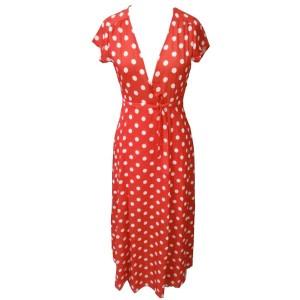 Maxi duga haljina s točkicama
