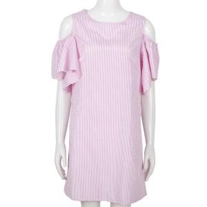 Mini šift haljina otvorenih ramena sa zvono rukavima