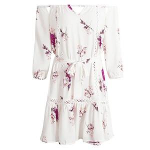 Mini boho cvjetna haljina otvorenih ramena