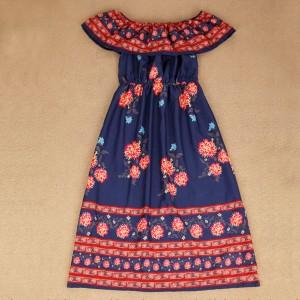 Mini boho etno haljina otvorenih ramena